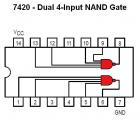 7420 Dual 4-Input NAND Gate