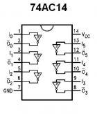 74AC14 Hex Schmitt Trigger