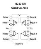 MC33178 SMT Quad Op Amp