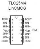 TLC25M4 LinCMOS Quad Op Amp