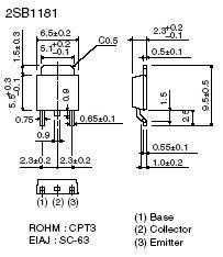 2SB1181 SMT PNP High Power Transistor