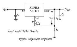 AS1117-R-3.3 SMT 3.3v Regulator
