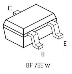 BF799W SMT NPN RF Transistor