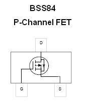 SMT FET - BSS84 P-Channel