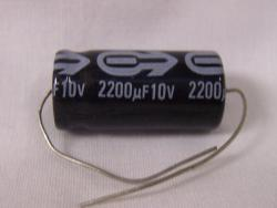 Assorted Aluminum Electrolytic Axial Capacitor Kit - 10 Values