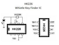 HK226  Whistle Key Finder IC