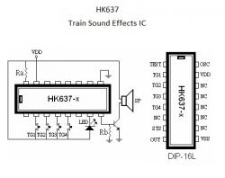 HK637-2  Train Sounds Generator IC