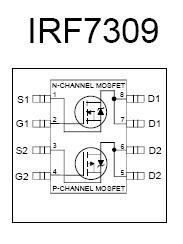 Irf7309 Smt Dual Mosfet Nightfire Electronics Llc