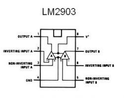 LM2903 SMT Dual Voltage Comparator