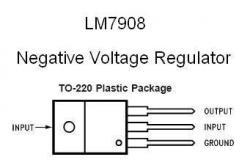 LM7908 NEGATIVE -8v Voltage Regulator
