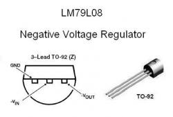 LM79L08 NEGATIVE -8v Voltage Regulator