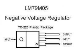 LM79M05 NEGATIVE -5v Voltage Regulator