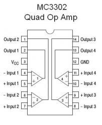 MC3302 Quad Schematic on guitar pedal, electronic circuits, metal detector, star trek, high voltage, tube guitar amp, block diagram,