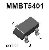 MMBT5401 SMT PNP High-Voltage Transistor
