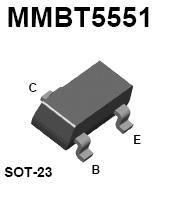 MMBT5551 SMT NPN High-Voltage Transistor