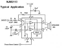 NJM2113D Low-Voltage Audio Amplifier IC
