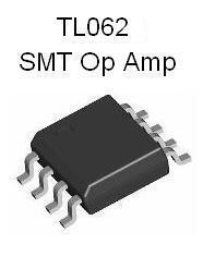 TL062 SMT Dual JFET Op Amp Design Kit w/ SMT PCB (#2915)