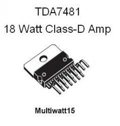 TDA7481 18-Watt Audio Amplifier
