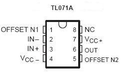 TL071 JFET Op Amp IC | NightFire Electronics LLC