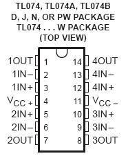 Tl074 Quad Jfet Op Amp Ic Nightfire Electronics Llc