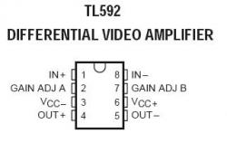 TL592 Differential Video Amplifier