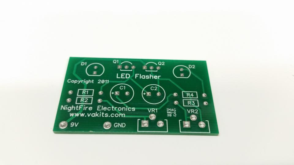Pcb Only Led Blinky Nightfire Electronics Llc