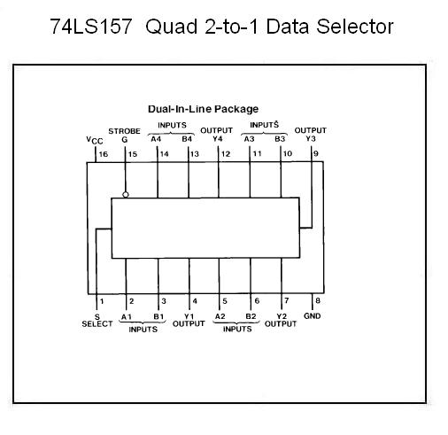74ls157 Quad 2 Input Multiplexer Nightfire Electronics Llc
