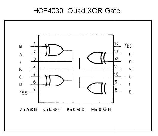 Hcf4030 Quad Xor Gate Nightfire Electronics Llc