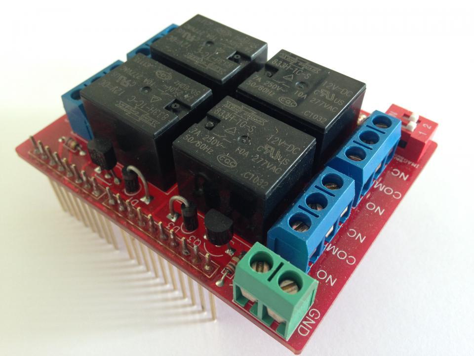 Arduino Relay Shield Kit, 12v | NightFire Electronics LLC