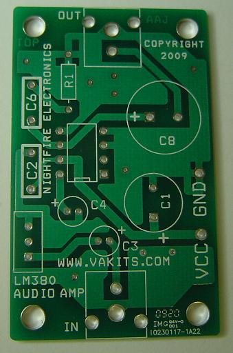 Pcb Only Lm380 Audio Amplifier Nightfire Electronics Llc