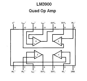 Lm3900 Quad Op Amp Ic Nightfire Electronics Llc
