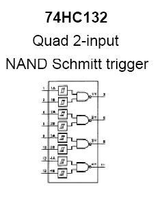 74HC132 Quad 2-Input NAND Gate | NightFire Electronics LLC