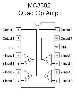 Mc3302 Smt Quad Voltage Comparator Nightfire Electronics Llc