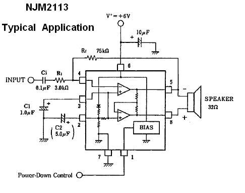 Njm2113d Low Voltage Audio Amplifier Ic Nightfire