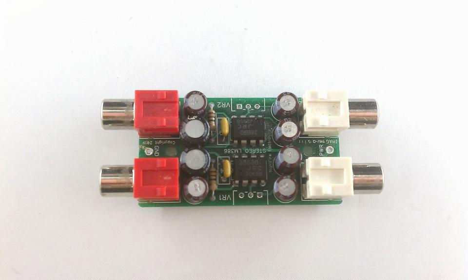 Pcb Only Stereo Lm386 Audio Amplifier Nightfire