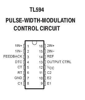 Tl594 Pwm Control Circuit Ic Nightfire Electronics Llc