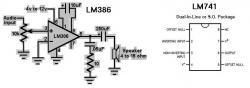 LM741 Op Amp & LM386 Audio Amp SMT ICs