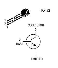 20PCS MPS222A NPN Transistor TO-92 40V 600MA 625mW Marcatura 222A